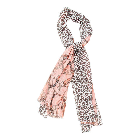 Leopard Horse Buckle Scarf