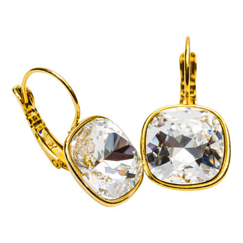 Swarovski Cushion Cut Drop Earrings