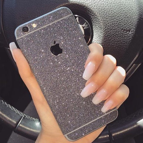 CHARCOAL iPhone Glitter Decal