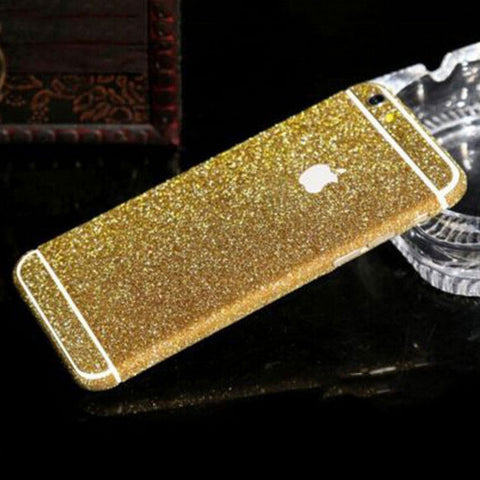 DARK GOLD iPhone Glitter Decal