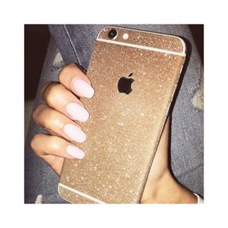 LIGHT GOLD iPhone Glitter Decal