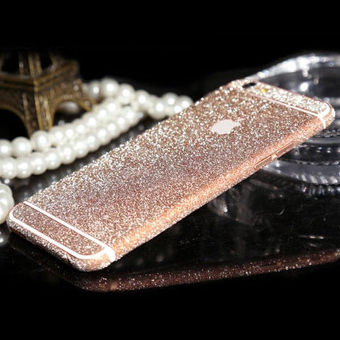 ROSE GOLD iPhone Glitter Decal
