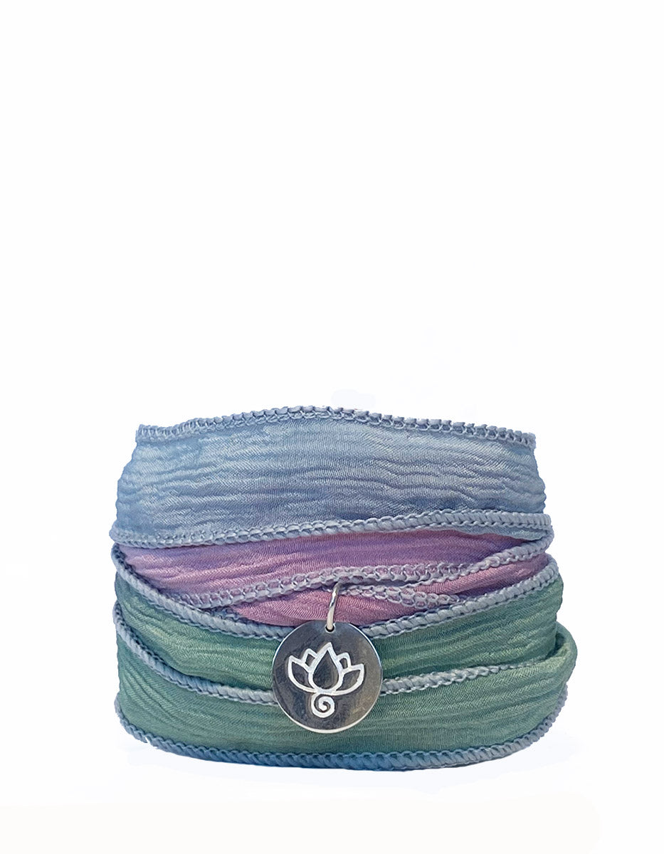 Lotus Silk Wrap Bracelet - Dream