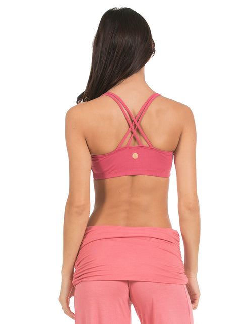 organic cotton yoga wear bar top bloom pink blossoming-lotus-2