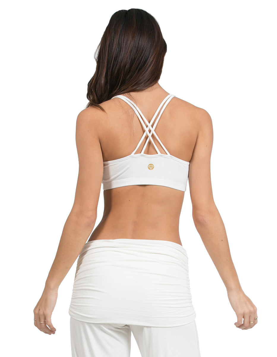 organic cotton double cross yoga sport bra white organic-basics-2