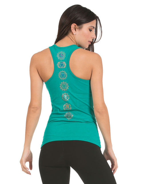 organic cotton yoga wear tank top chakra blossoming-lotus
