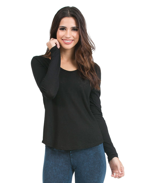 organic eco slub chakra vneck top black signature-prints-2