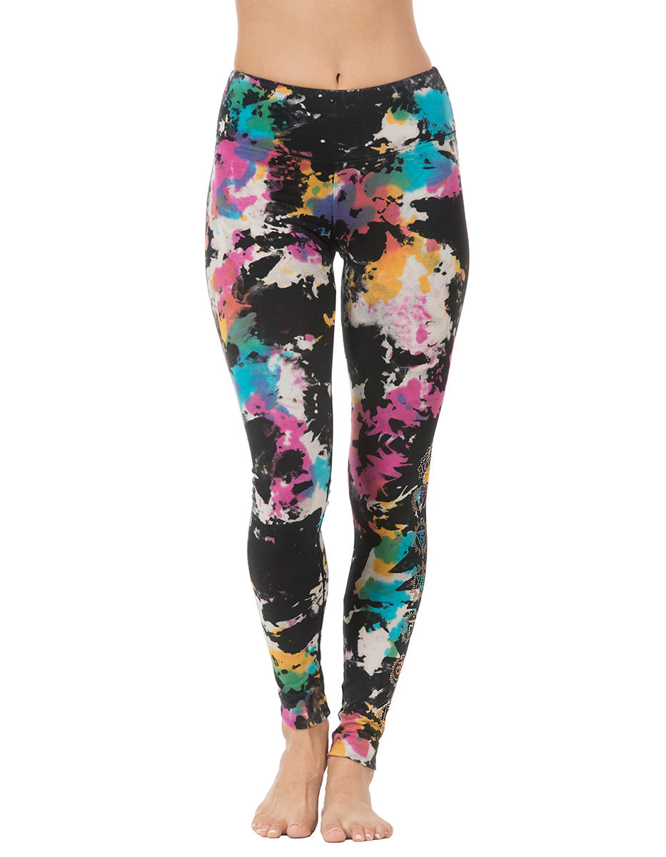 Chakra Long Leggings - Techno Groove