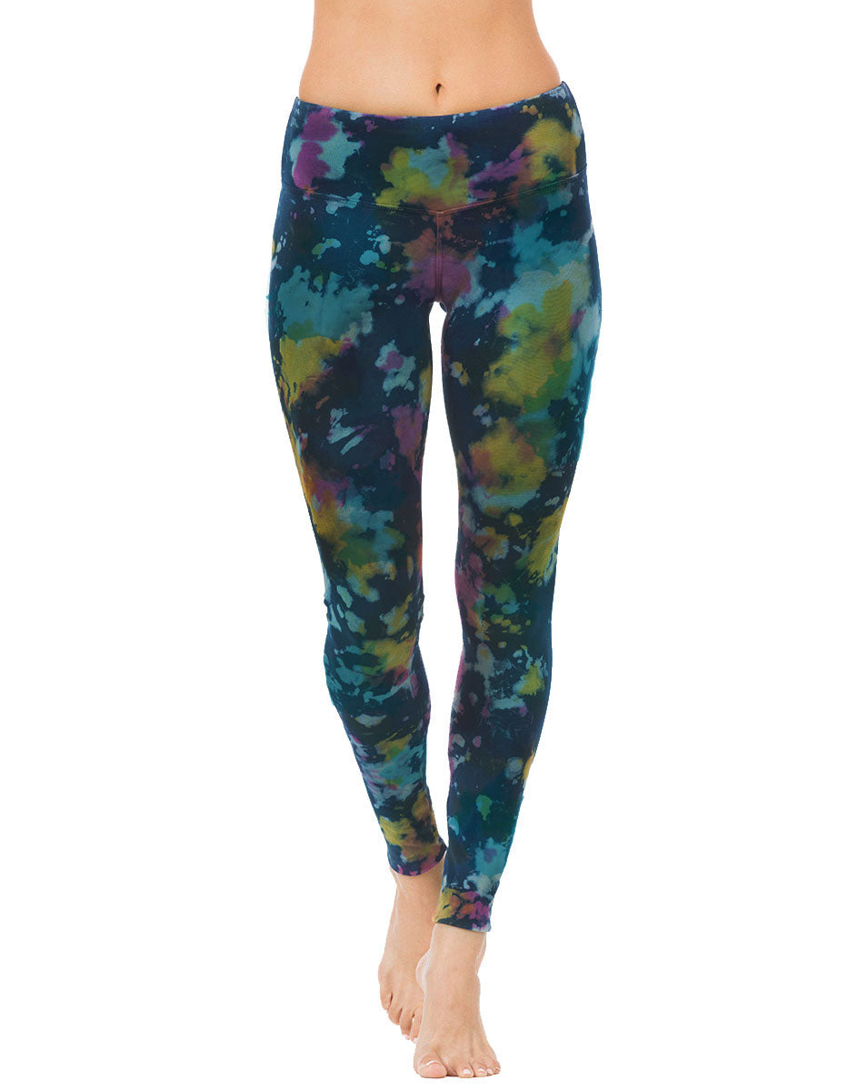 organic cotton yoga legging indigo tie dye active-bottoms