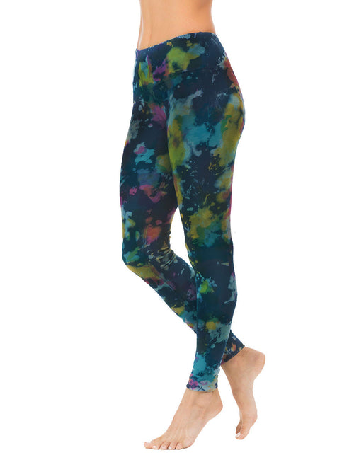 organic cotton yoga legging indigo tie dye active-bottoms-2