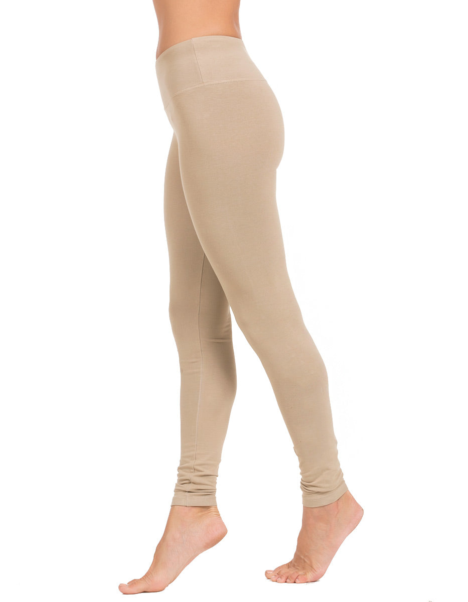 organic cotton long legging neutral khaki seed
