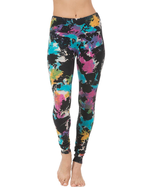 organic cotton yoga legging black tie dye active-bottoms