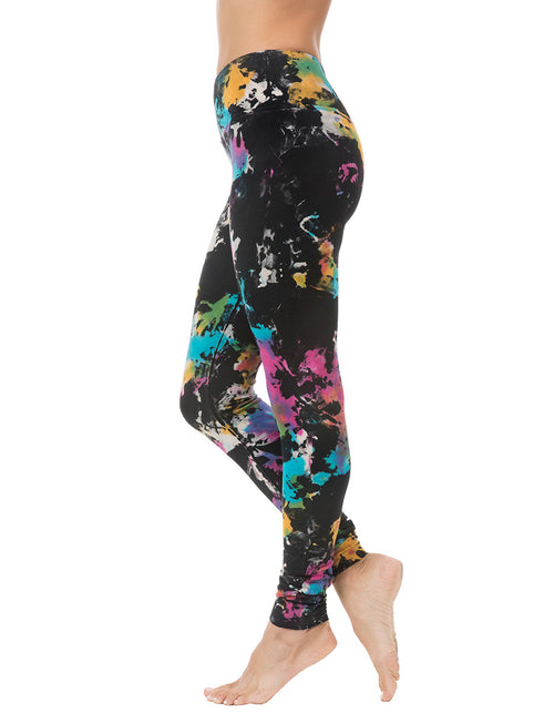 organic cotton yoga legging black tie dye active-bottoms-2