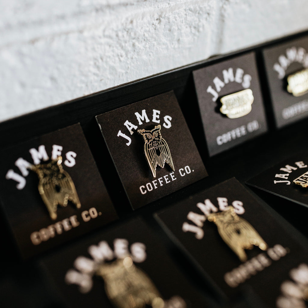 James Coffee Co. Owl Pin Black