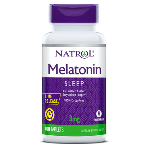 NATROL-Melatonin Time Release 3mg 100tabs
