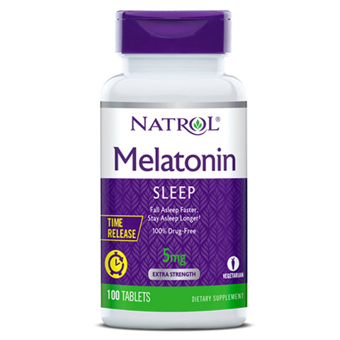 NATROL-Melatonin Time Release 5mg 100tabs
