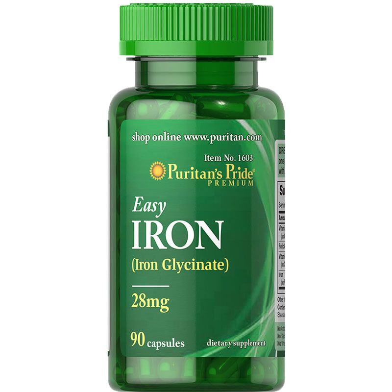 Puritan's Pride Easy Iron 28 mg (Iron Glycinate)