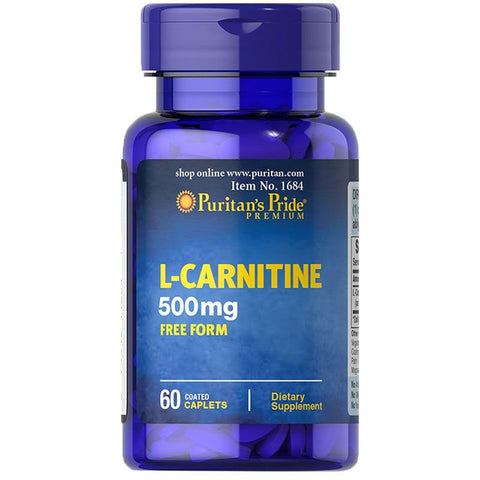 Image of Puritan's Pride L-Carnitine 500 mg 60 Caplets