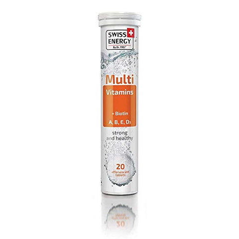 Swiss Energy Multi Vitamin (A, B, E, D3) + Biotin Effervescent (20 Count)