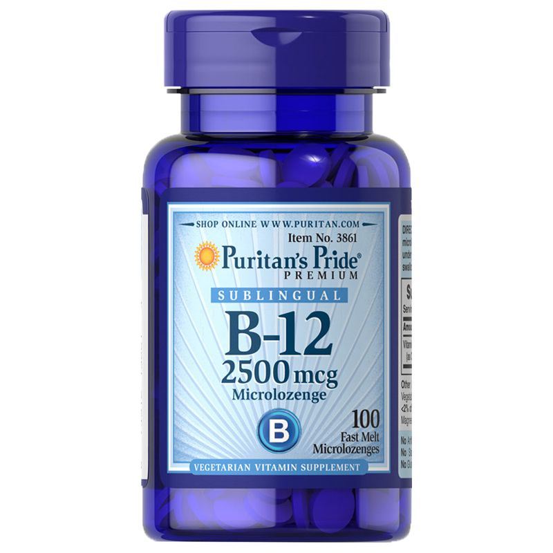 Puritan's Pride Vitamin B-12 2500 mcg Sublingual