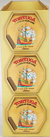 Tortuga Caribbean Golden Original Rum Cake, 4-Ounce Boxes (Pack of 6)
