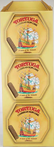 Tortuga Caribbean Rum Cake Golden Original 4 Oz (Pack of 6)