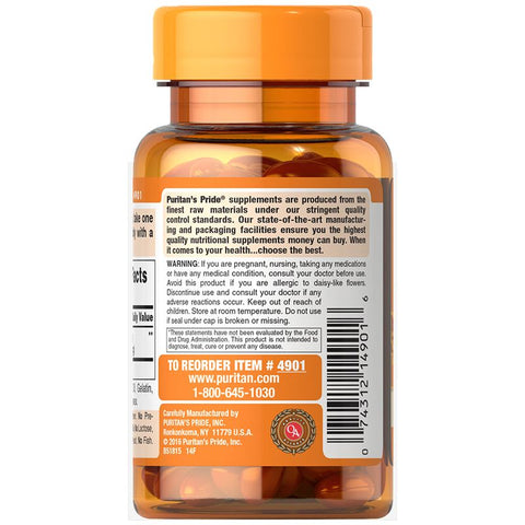 Image of Puritan's Pride Lutein 20 mg with Zeaxanthin 60 Softgels