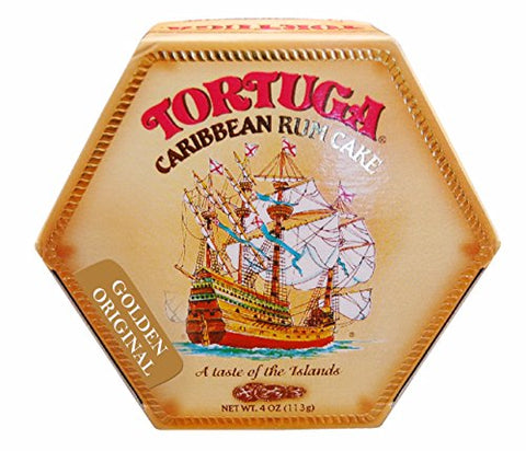Tortuga Rum Cake Golden Original with Walnuts Flavor 4 Oz