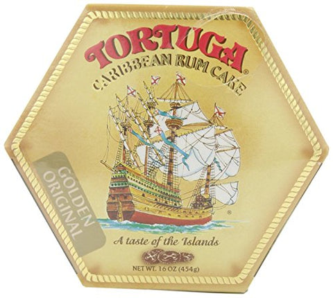 Image of Tortuga Rum Cake Golden Original Flavor 16 Oz (2Pack)