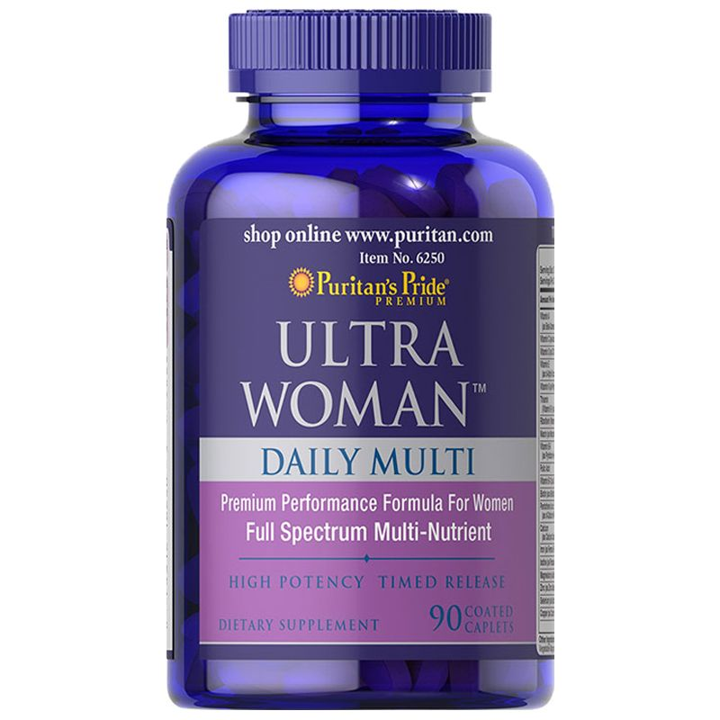 Puritan`s Pride Ultra Womanð Daily Multi Timed Release 90