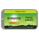 Elevate® HEMP Extract Mints 3mg/piece, 8 Piece/tin Fresh Mint