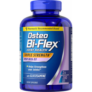 Osteo Bi-Flex Triple Strength Glucosamine MSN D3 200caps