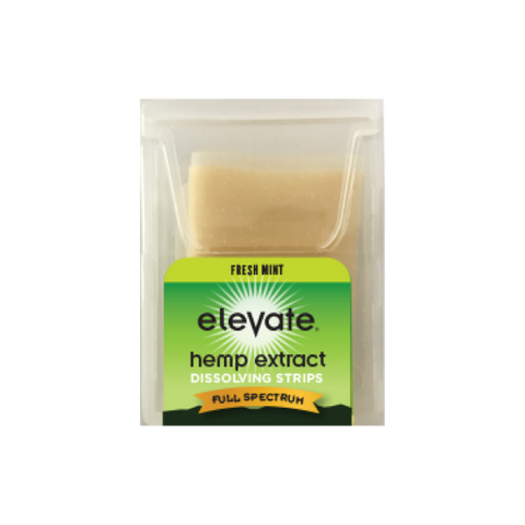 Elevate® HEMP Extract Oral Dissolvable Strips, 5mg/strip, 10 strips/pack - Mint