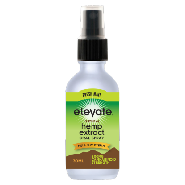 Elevate® HEMP Extract Oral Spray, 600mg HEMP Extract/30ml - Mint