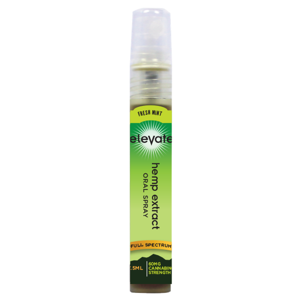 Elevate® HEMP Extract Oral Spray, 60mg HEMP Extract/Bottle, 7.5ml bottle - Mint