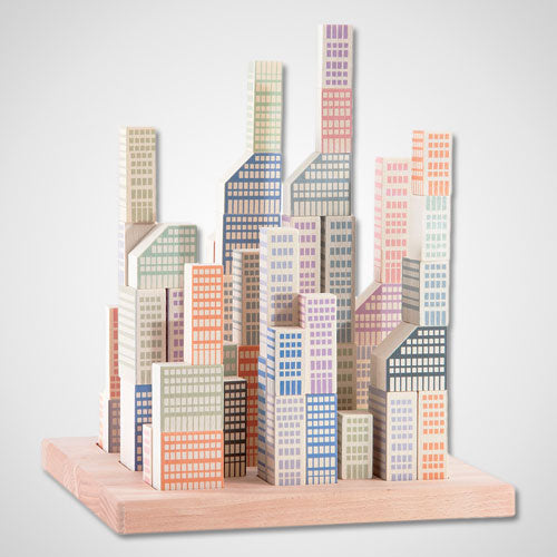 Wooden Manhattan City Blocks