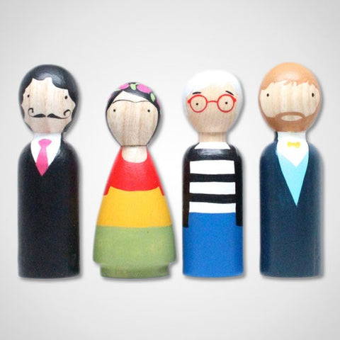 The Modern Artists Wooden Dolls