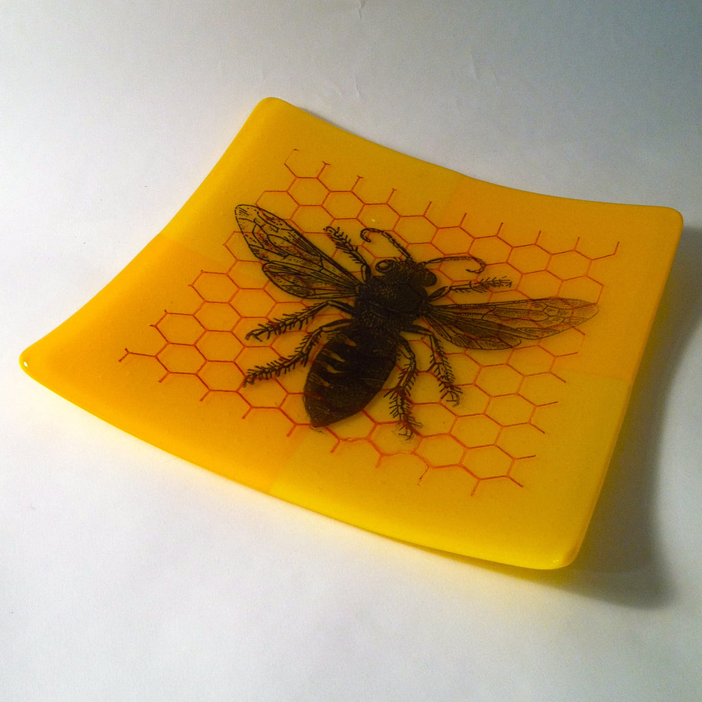 Bee and Honeycomb Plate