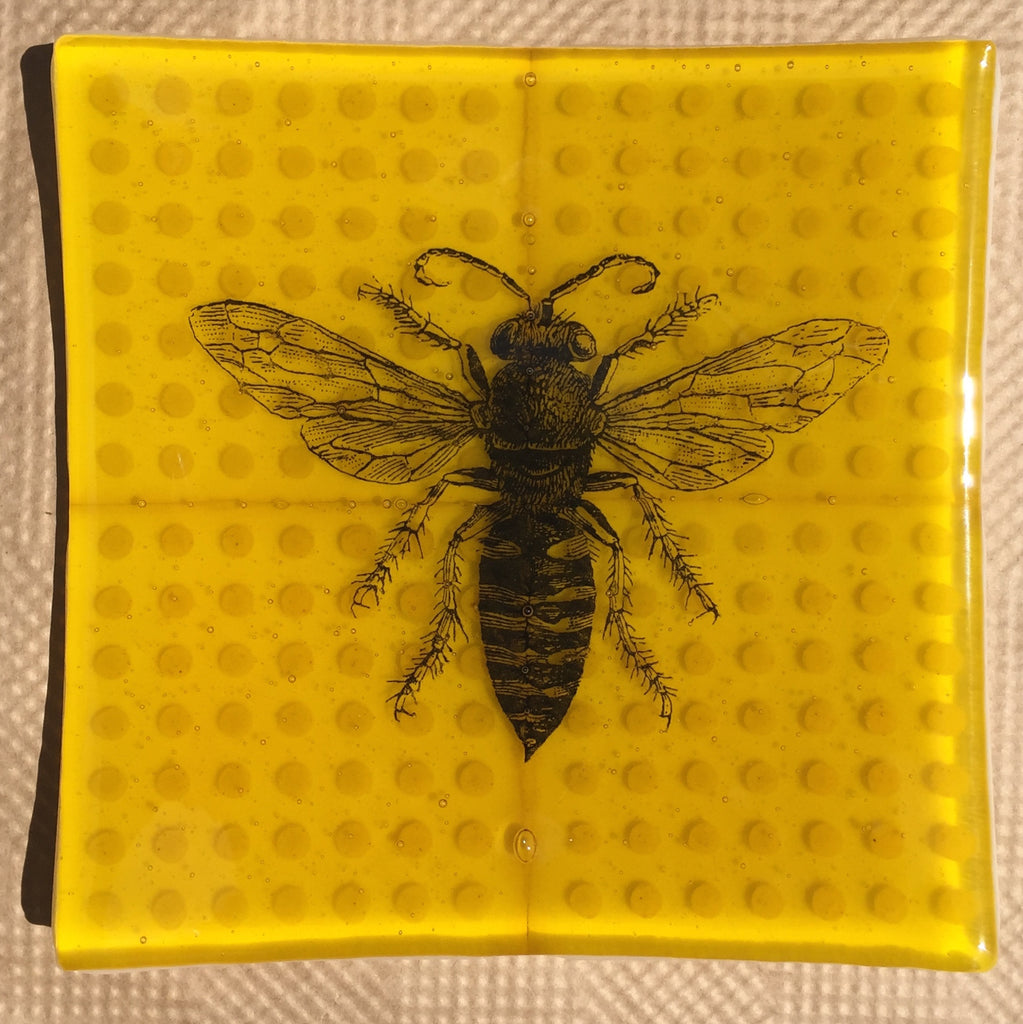 Bee and Dots Plate