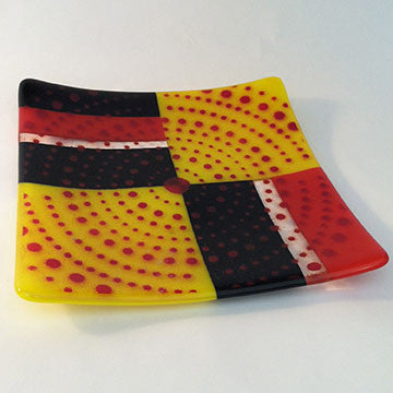 Black Yellow Red Plate