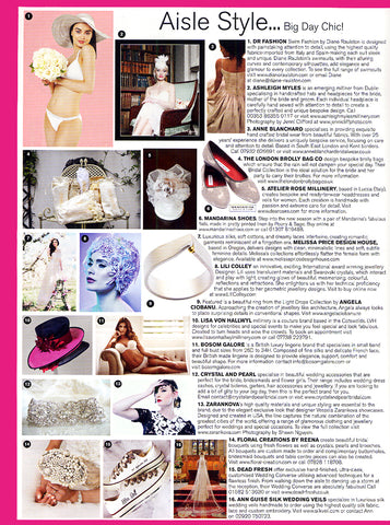 White Bridal bikini by Diane Raulston and DR Fashion is featured in Brides magazine—September/October, 2015 Insert