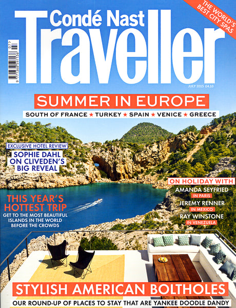 Diane Raulston and DR Fashion is featured in Condé Naste Traveller—July, 2015 Cover