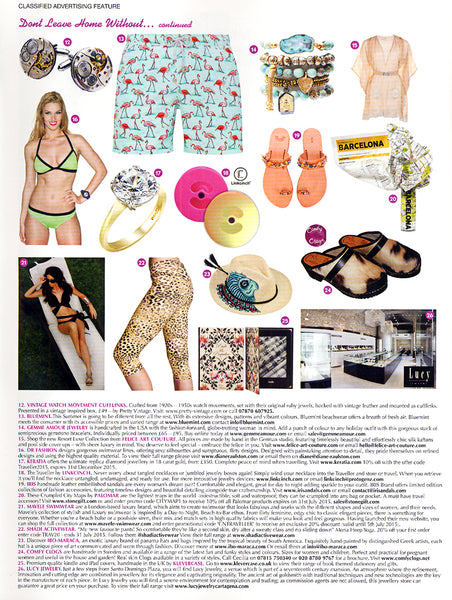 Diane Raulston and DR Fashion is featured in Condé Naste Traveller—July, 2015 Insert