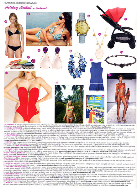 Diane Raulston and DR Fashion is featured in Condé Naste Traveller—June, 2015 Insert