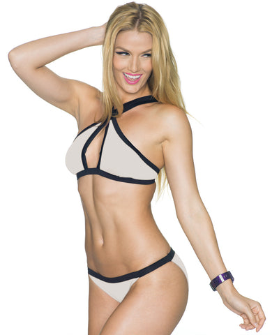 Low-Rise Bikini Bottoms in Various Colors with Black Trim—Sporty Collection