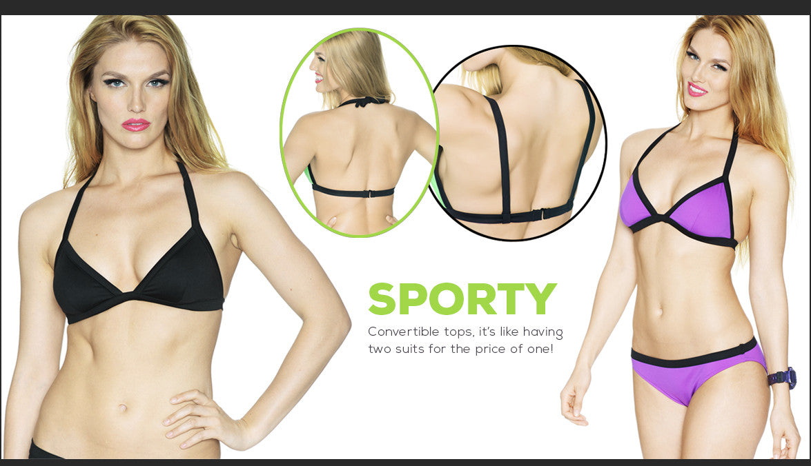 Sporty Collection with 2 in 1 convertible tops!