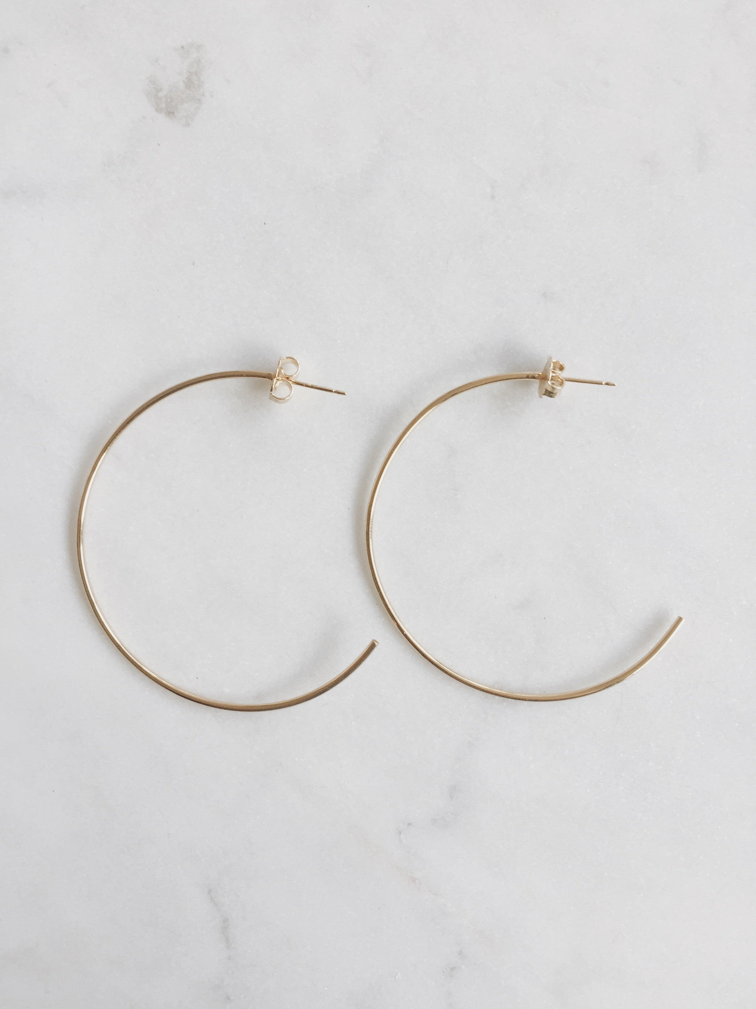 Large Hoops - Gold