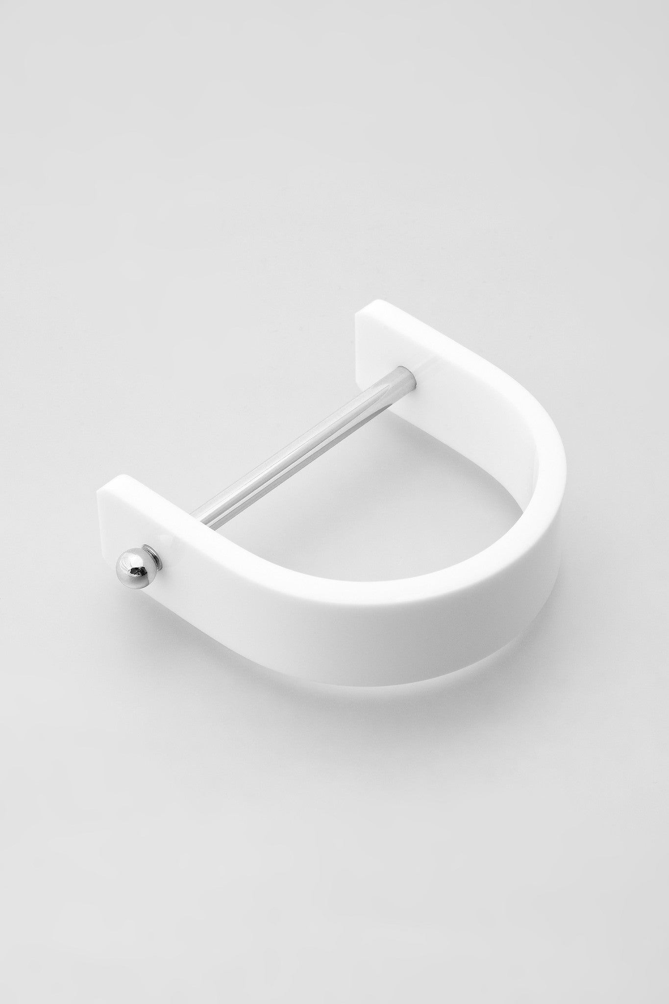 Alpha Bangle - Silver/White