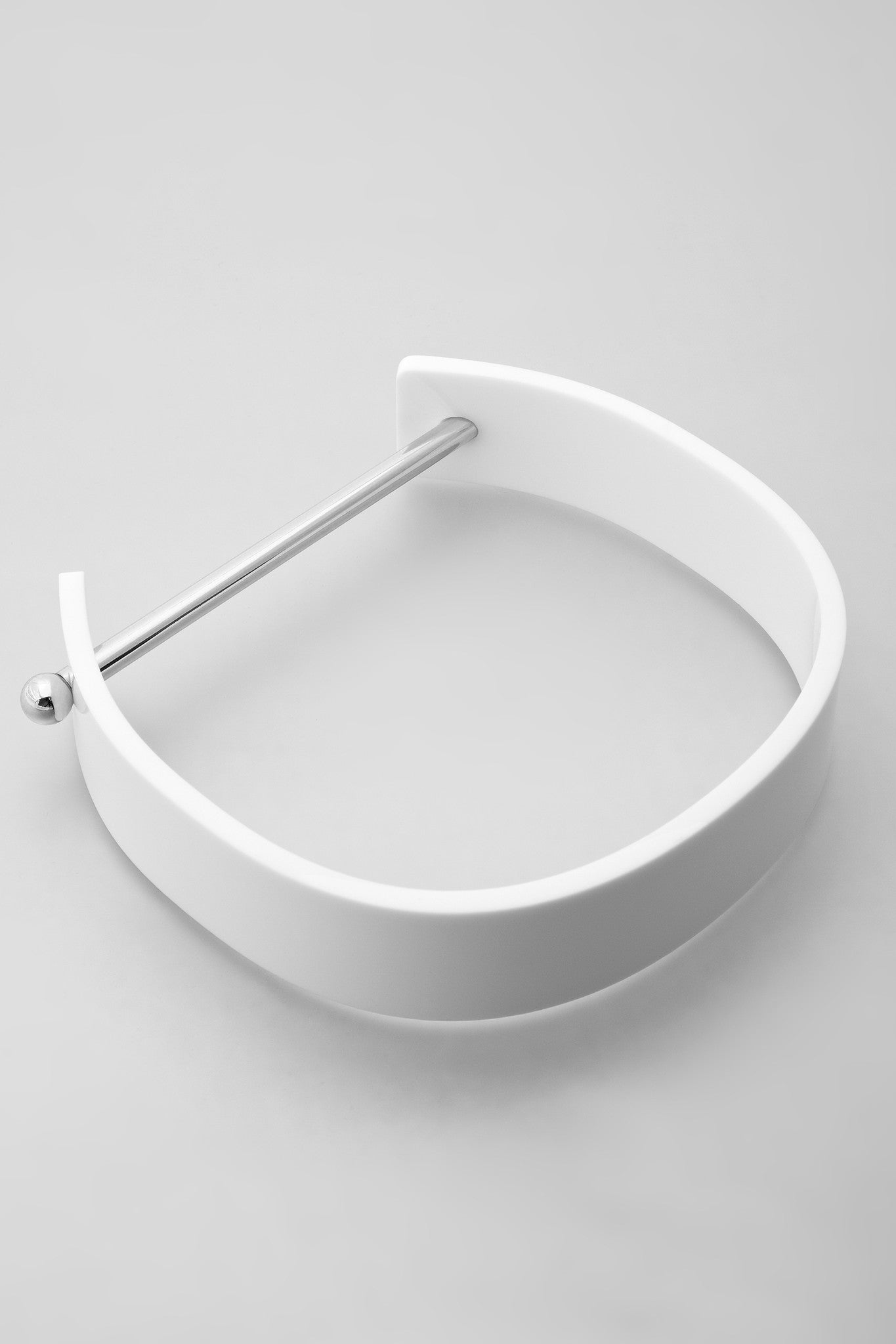 Alpha Collar - Silver/White
