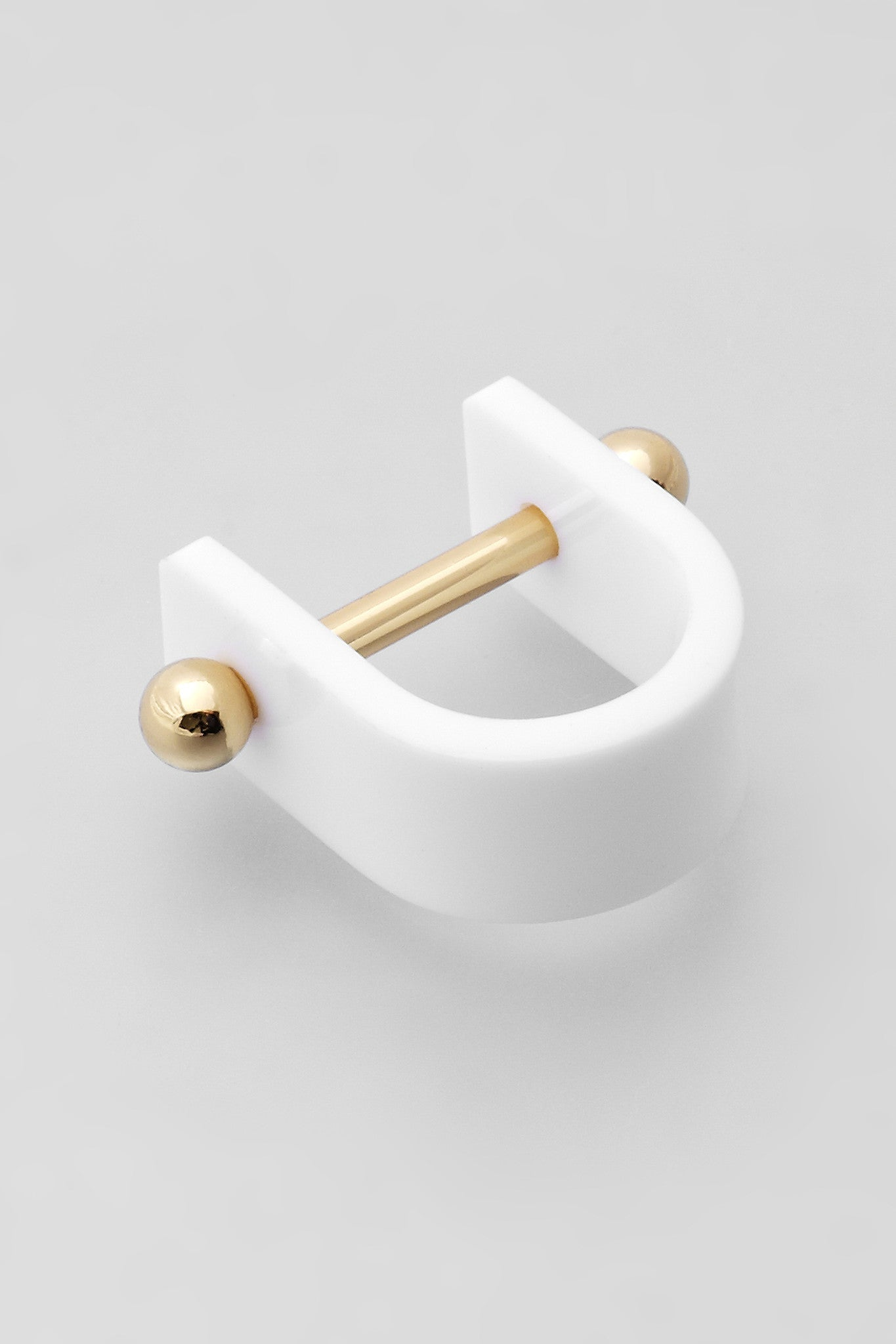 Alpha Single Ring - Gold/White